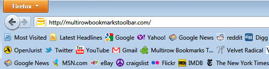 Multirow Bookmarks Firefox addon
