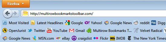 Multirow Bookmarks Firefox addon