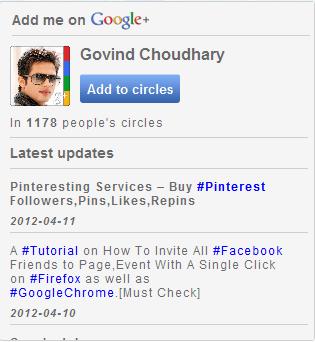 Google+ widgets