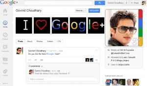 Govind Choudhary Google+