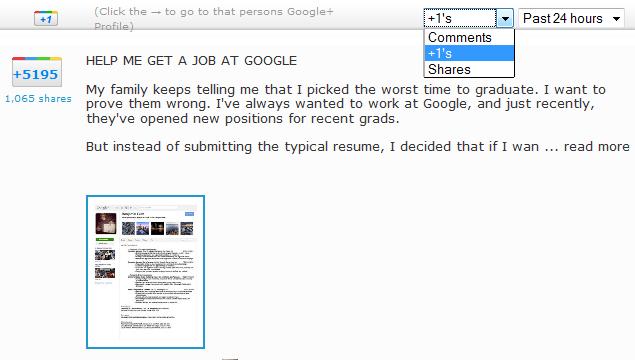 google+ stats