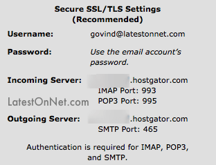 Hostgator-SMTP-Settings-Custom-Email