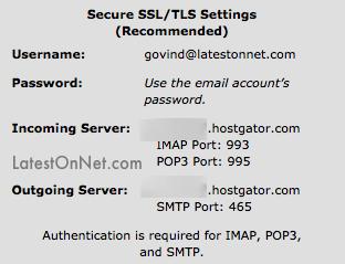 Hostgator-SMTP-Settings-Custom-Email