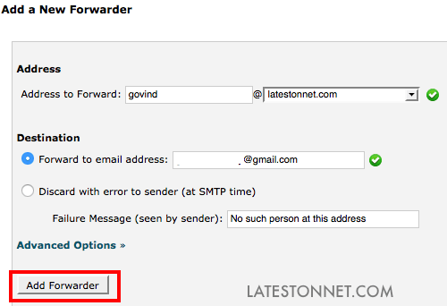 Add-forwarder-email-hostgator