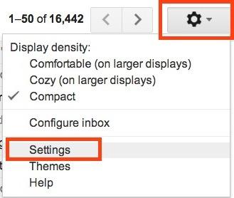 Gmail's settings