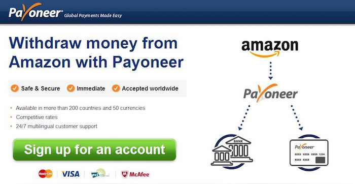payoneer amazon payment